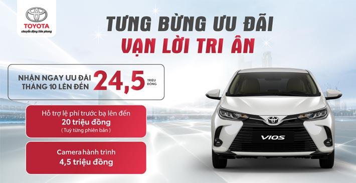 Toyota tiếp tục ưu đãi 'khủng' cho khách hàng mua xe Vios