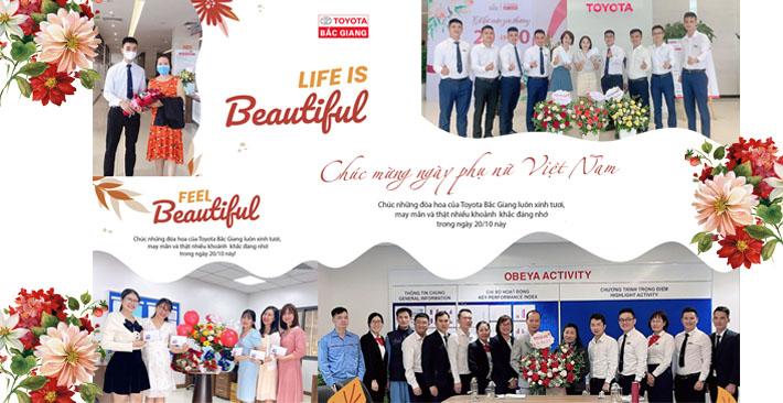Toyota Bắc Giang chúc mừng ngày Phụ nữ Việt Nam 20/10