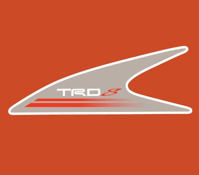 Tem dán sườn xe TRD (màu ghi)
